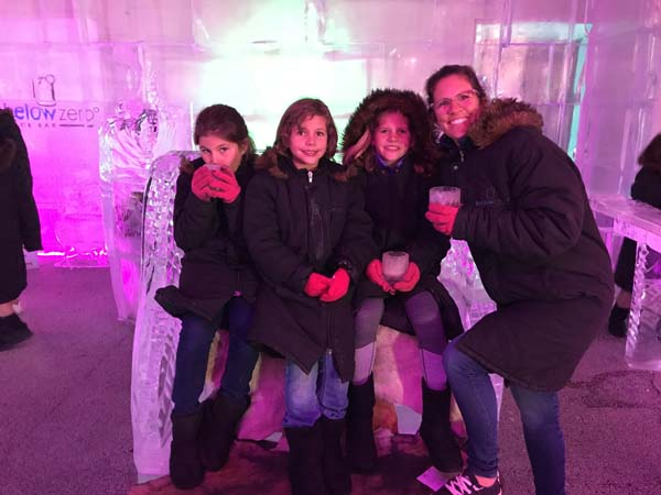 Parker's Birthday in Queenstown - we went to the ice bar! Everything is made of ice - even the cups!